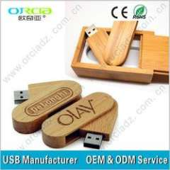 Wooden usb drive bamboo usb flash disk best quality eco friendly