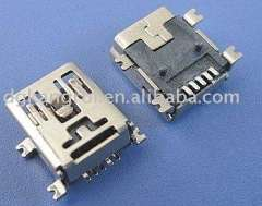 mini usb 5p female connector