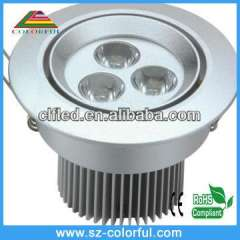 3w led downlight& ceiling lighting 220v led dimmable led downlight with super brightness 2 years warranty time, ip65