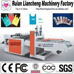 Plastic bag making machine and machine for perforated plastic bag