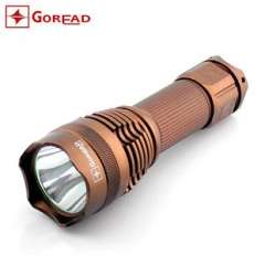 Authentic GOREAD Y14 Flashlight XML-T6 Rechargeable Torches | 5 files dimming 240g