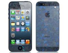 High Transmission 3D Blue and White Porcelain Design Screen Protector for iPhone 5