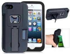 Multifunctional Protective Case with Stand & Bottle Opener for iPhone 5 (Black)