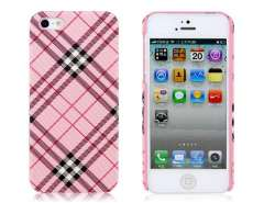 PC Grid Protective Case for iPhone 5 (Pink)