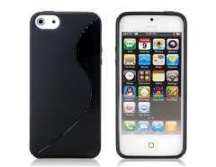 Stylish S Pattern Design TPU Protective Case for iPhone 5 (Black)