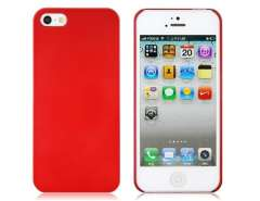 Mirrored Titanium Protective Case for iPhone 5 (Red)
