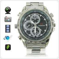 Wholesale 4GB HD 1280 x 960 Stainless Steel Spy Camera Watch with Hidden Camera