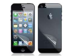 Front & Back Matte Screen Protector Set for iPhone 5 (Transparent)