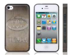 BATMAN Ultra-slim Metal & Plastic Case for iPhone 4S (Grey)