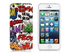 IMD Painting Glossy Colorful Graffiti Design PC Protective Case for iPhone 5