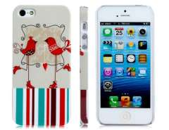 PC Plastic Card Bird Baked Finish Protective Case for iPhone 5