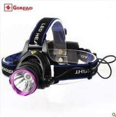 A new generation of passers GD26 CREE LED T6 headlight glare charging 10W | Outdoor long-range mine hunting