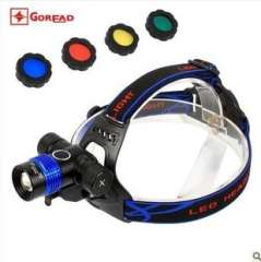 GD06 headlight glare | bicycle lights and headlights with two | Zoom headlamp XML-T6 lights highlight