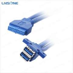 B male usb3.0 to female 20 pin cable usb 3.0 to motherboard cable