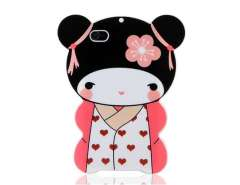 Japanese Dolly Design TPU Protective Case for iPhone 4 & 4S