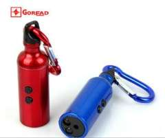 Water Kun triple torch Flashlight + LED white light laser + paper money with Carabiner Keychain