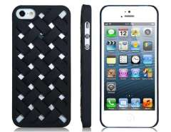 Stencil Braided Design Protective Case for iPhone 5 (Black)