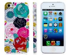 Polycarbonate Plastic Chrysanthemum Print IMD Protective Case for iPhone 5