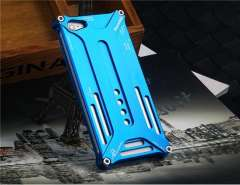 Cut-Outs Metal Protective Case for iPhone 5 (Blue)