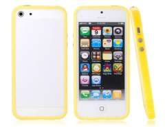 TPU Protective Frame for iPhone 5 (Yellow)