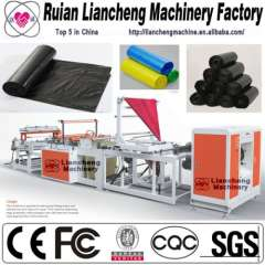 Plastic bag making machine and bag labeling machine