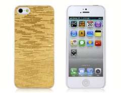 Rain Pattern Design PC Protective Case for iPhone 5 (Golden)