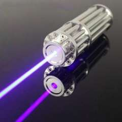 1000mW Blue Laser Pointer with battery and battery charger, aluminum case, free safety glasses