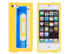 Silicone Tape Protective Case for iPhone 5 (Yellow)