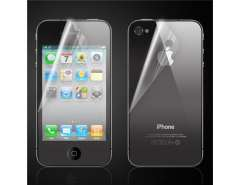 Frosted Screen Protector Front+back with cleaning cloth for iPhone 4(Transparent)
