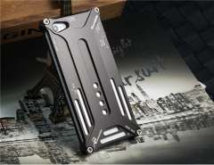 Cut-Outs Metal Protective Case for iPhone 5 (Black)