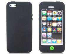 Protective Silicone Case for iPhone 5 (Black)