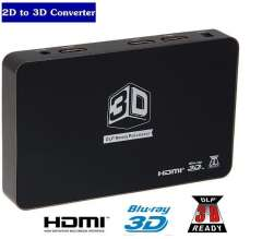 2D to 3D HDMI Video Converter Box HD 1080P 720P 3D DLP Projector Media Processor Support HDMI 1 Out and 2 In For 3D TV Games