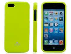 Mercury Glittering TPU Rubber Protective Case for iPhone 5 (Green)