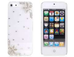 3D Flower Pattern Plastic Crystal Case for iPhone 5