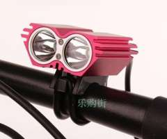 2 CREE XM-L U2 Headlamp Bicycle Bike HeadLight The Lamp More Bright Than T6 LED Flashlight Battery Pack Charger Set