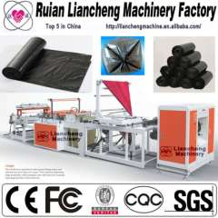 Plastic bag making machine and coal bagging machine