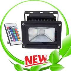Waterproof IP65 Remote Control 10W RGB Led Flood Light