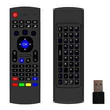 2.4GHz MX3 Wireless Remote Controller IR Learning 6 Axis Mic Voice mx3 Air Fly Mouse Keyboard for Android TV Box IPTV K0240M
