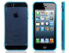 PC Plastic & TPU Rubber Dual Color Glow-in-the-Dark Protective Case for iPhone 5 (Blue)