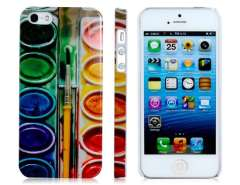 Polycarbonate Plastic Paintbrush Baked Finish Protective Case for iPhone 5