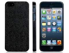 PP Plastic Ultra Thin Textured Protective Case for iPhone 5 (Black)