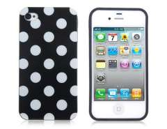 TPU Points Pattern Design Protective Case for iPhone 4 & 4S (Black)