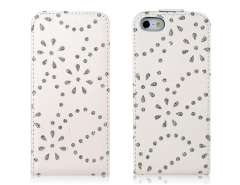 Rhinestone Protective Case for iPhone 5 (White)