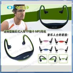Supply fashion head style sports MP3 / wireless card headset MP3 player / running MP3 / hang ear type MP3