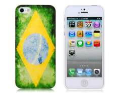 Brazil National Flag Pattern Baking Finish Protective Case for iPhone 5