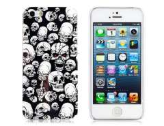 IMD Painting Glossy Ghost Head Design PC Protective Case for iPhone 5