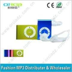 Best quality metal mini Clip mp3 player with card slot