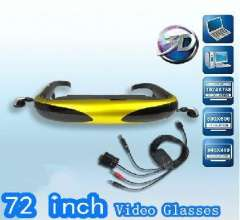 72 virtual display video glasses