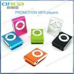 Mini mp3 player print customized LOGO great promotion&gift item