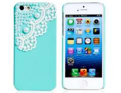 Lace & Shell Pearl Accent Protective Case for iPhone 5 (Green)
